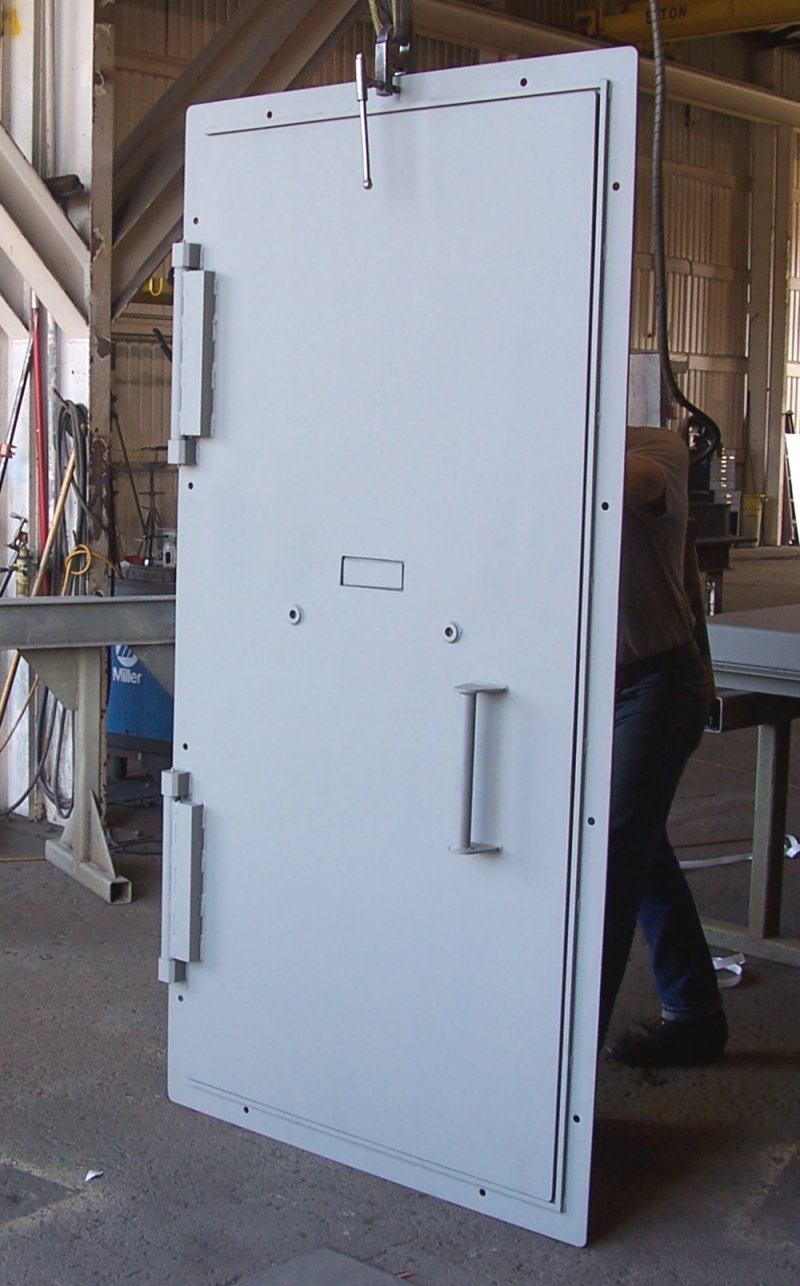 Single leaf ballistic door