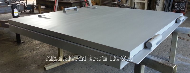 2.5 inch thick solid steel missile door for a nuclear power plant